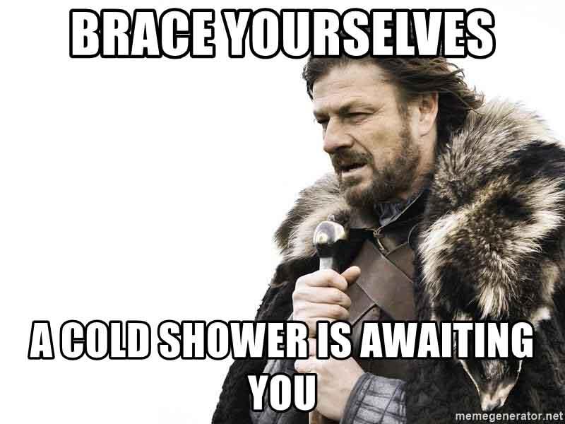 jéghideg zuhany